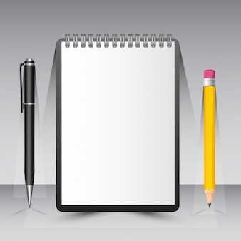 Empty notebook design