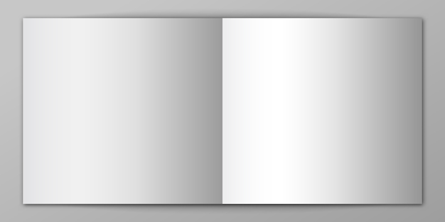 Empty notebook isolated. blank mockup of magazine. illustration.