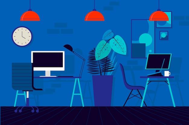 Пустой офис иллюстрируется во время пандемии