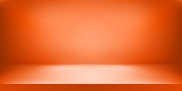 Empty orange color studio