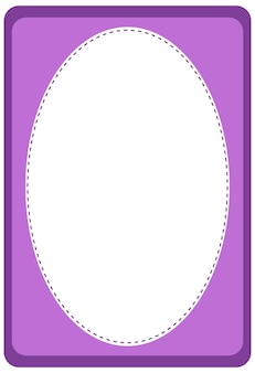 Empty oval shape banner template
