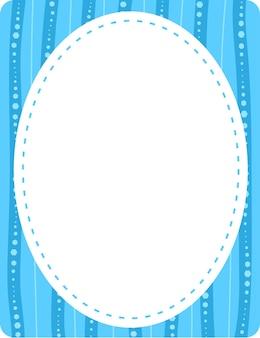 Пустой шаблон баннера овальной формы