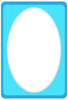 空の楕円形のバナーテンプレート