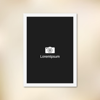 Empty paper photo frame