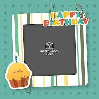 Empty photo frame for birthday celebration