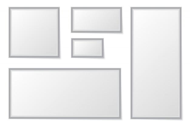 Empty photo frames set.  photo frames.