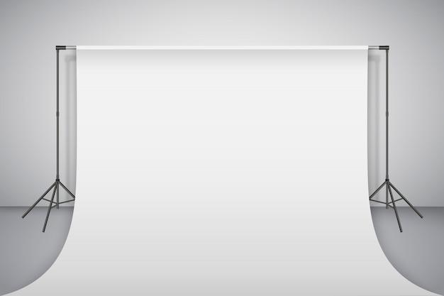 Empty photo studio. realistic 3d template