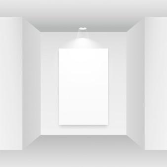 흰색 배경에 빈 그림 프레임