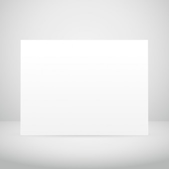 Empty picture frame in white room