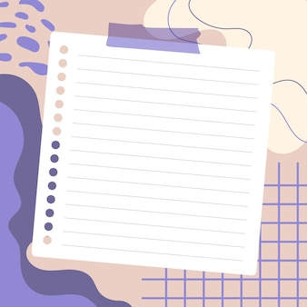Empty pieces of papers with a colorful background, ready for your message.  illustration.