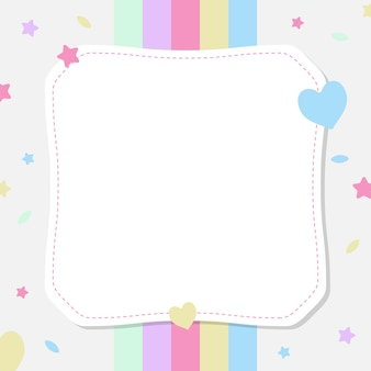 Empty pieces of papers with a colorful background, ready for your message illustration.