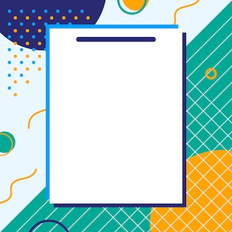 Empty pieces of papers with a colorful background, ready for your message.  illustration