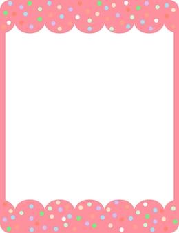空のピンクのカールフレームバナーテンプレート