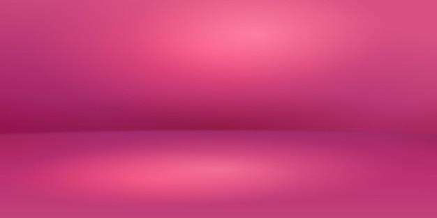 Пустой розовый студийный фон с мягким освещением