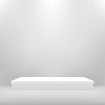 Empty podium studio for products