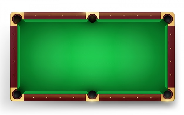 Empty pool   table  illustration.