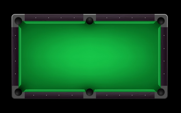 Empty pool   table realistic detailed illustration