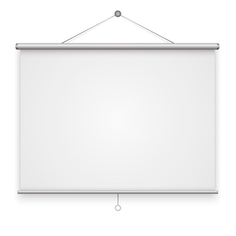 Empty projection screen isolated. vector illustration.