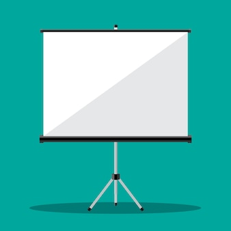 Empty projection screen,