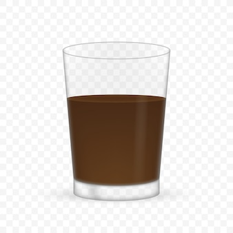 Empty realistic transparent glass for coffee.