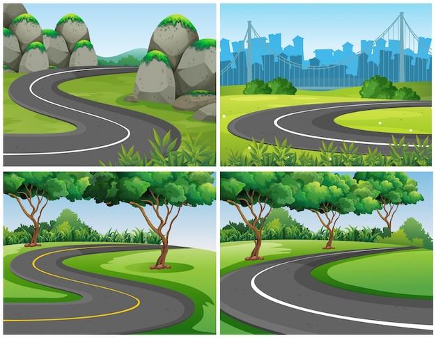 공원과 도시를 통해 빈도