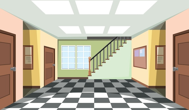 Empty room interior design