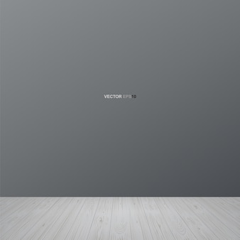 Empty room space background with wooden floor. vector illustration.