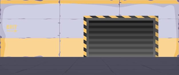 Вектор пустой комнаты. комната для иллюстрации бункера, лаборатории или тюрьмы.