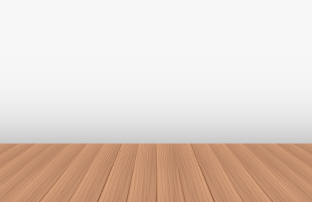 Empty room with a real wood floor