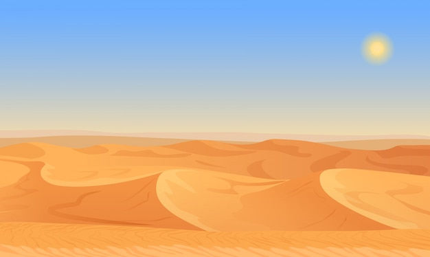 Empty sand desert landscape