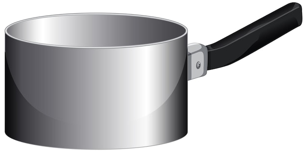 An empty saucepan with handle in cartoon style