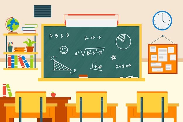 Sfondo di classe scolastica vuota per videoconferenza