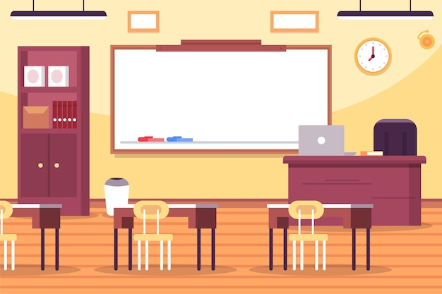 Empty school class - background for video conferencing