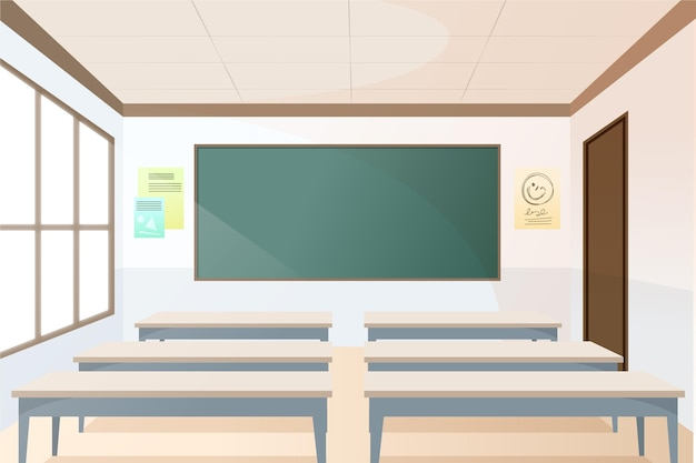 Empty school class background for video conferencing