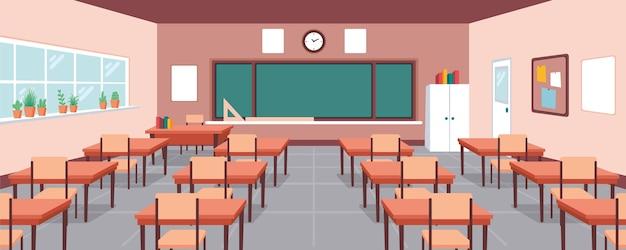 空の学校のクラスの背景