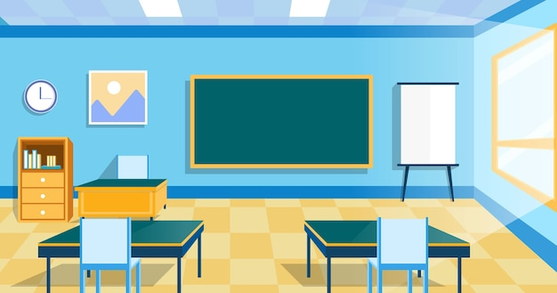 Empty school class wallpaper for video conferencing