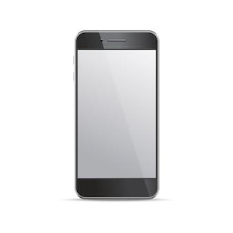 白い背景の空の画面のスマートフォンテンプレート。インフォグラフィック、webサイト、モーションの要素。