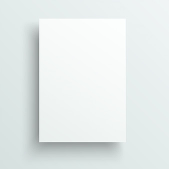 Empty sheet of paper template