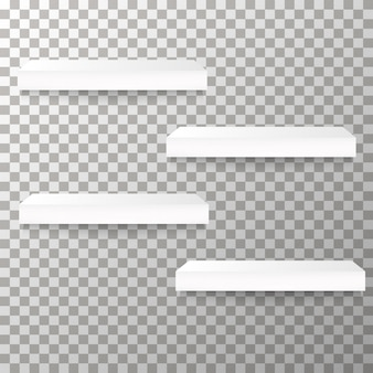 Empty shelves on the transparent background vector