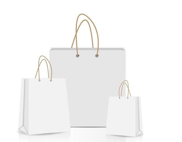 Empty shopping bag for advertising and branding vector illustra