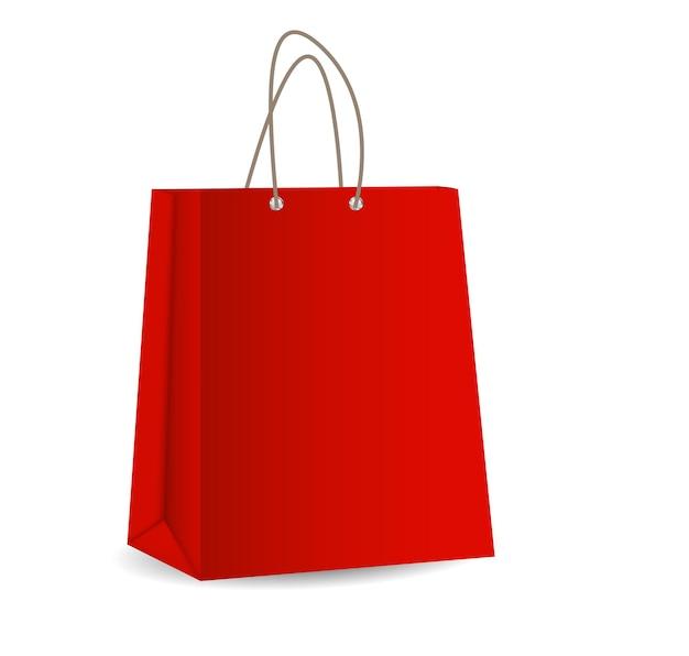 Empty shopping bag for advertising and branding vector illustration eps10