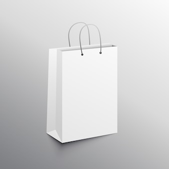 Empty shopping bag mockup