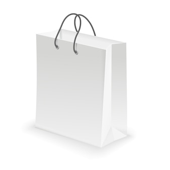 Empty shopping bag white