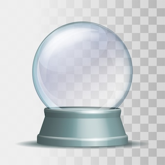 Empty snow globe illustration