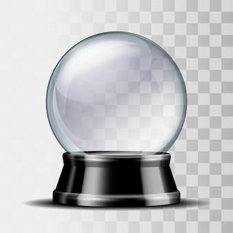 Empty snow globe.