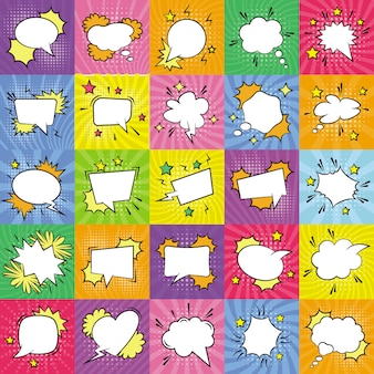 Empty speech bubbles icons bundle