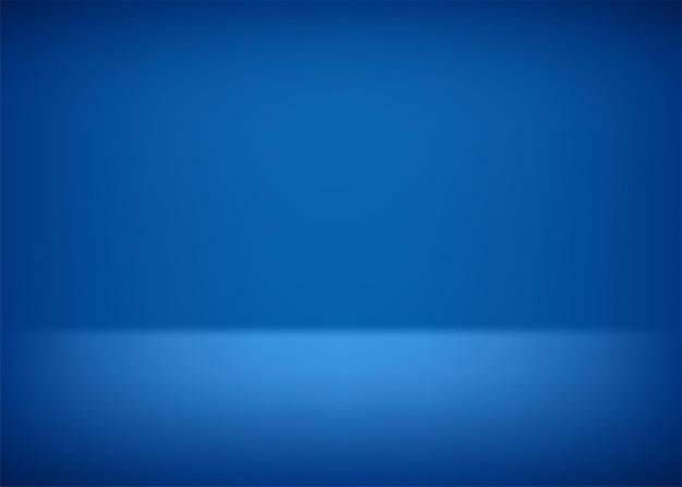 空のステージ。プレゼンテーションの青い背景。ベクトルイラスト。