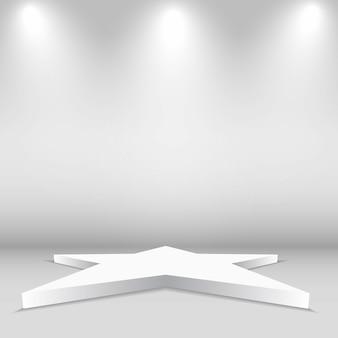 Empty stage star shape