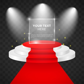Empty  stage vector design template