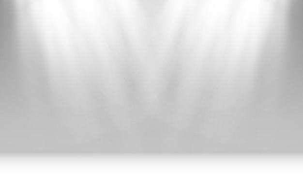 Пустая сцена с прожекторами осветительные приборы на прозрачном фоне